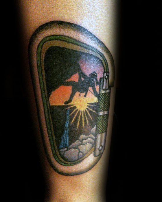 Rock Climbing Tattoo Ideas For Gentlemen