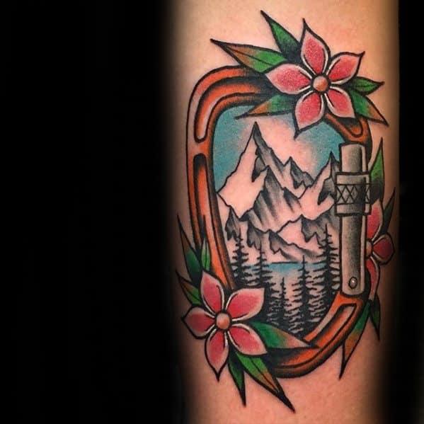 Rock Climbing Tattoos Male