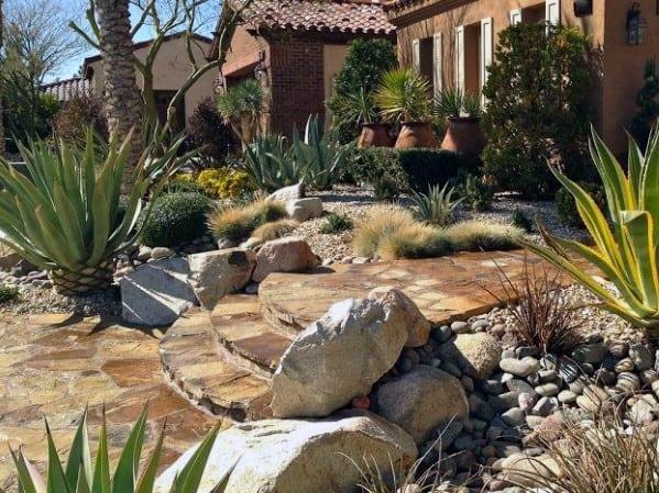 Rock Desert Landscaping Exterior Ideas