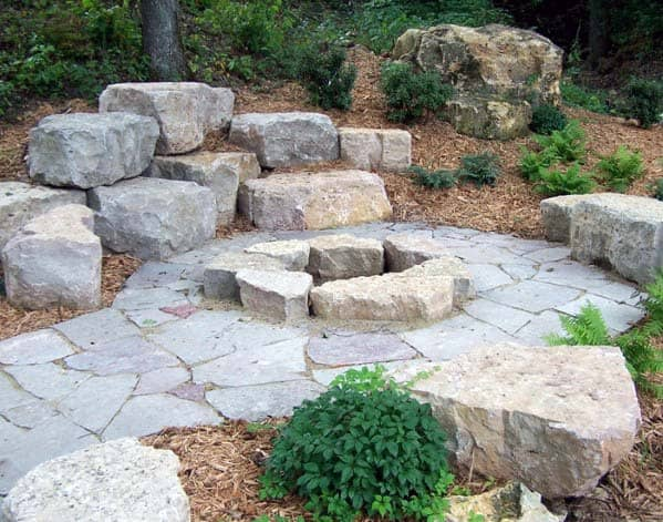 Rock Design Ideas For Fire Pit Landscaping