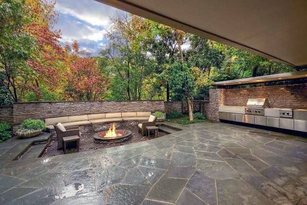Rock Fire Pit Designs Outdoor