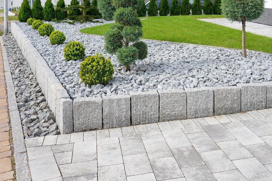 Exterior Rock Desert Front Yard Landscape Design