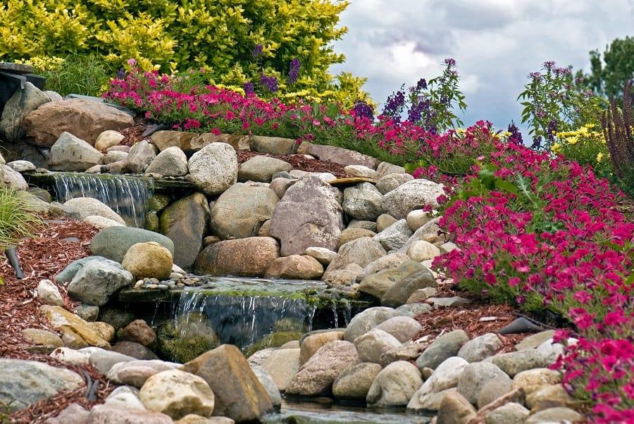 Front Yard Exterior Designs Rock Landscaping
