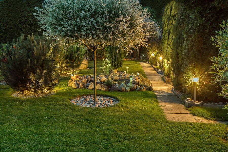 Landscaping Rocks Private Backyard Firepit Ideas