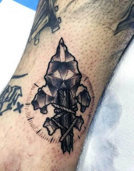 Rock Spear Mens Small Tattoo Ideas