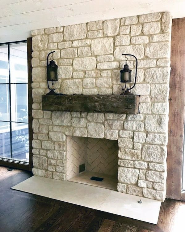 rock stone fireplace designs