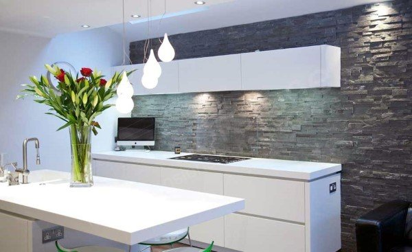 Rock Stone Kitchen Backsplash