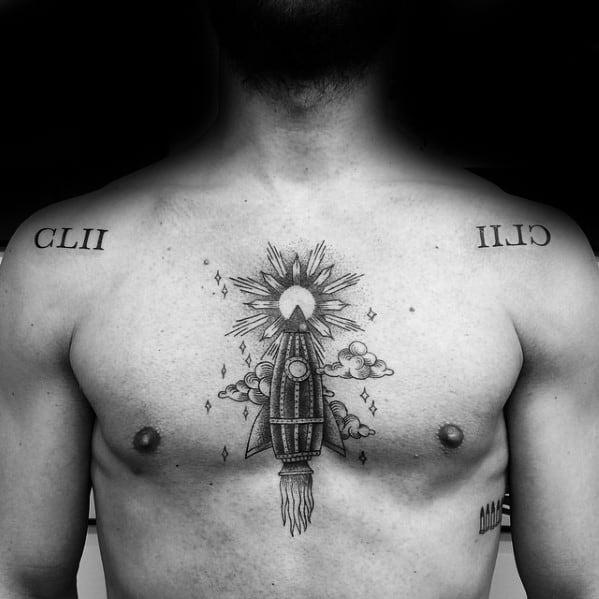 60 Rocket Ship Tattoo Designs For Men