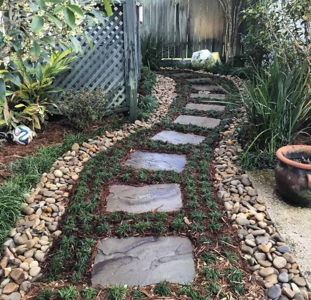 rocks and pebbles garden edging ideas chaseslandscapeservices
