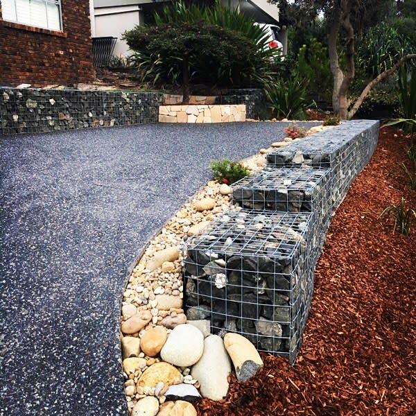 rocks and pebbles garden edging ideas everlastlandscapes