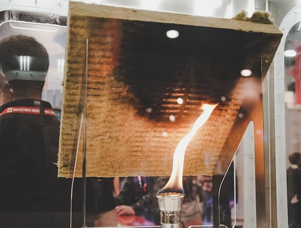 Rockwool Flame Test Display 2019 Nahb Show Las Vegas