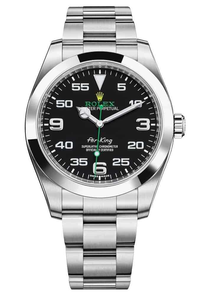 rolex air king wrist watch