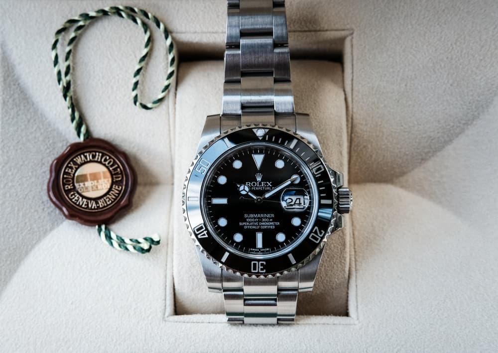 new rolex submariner divers watch shown with the cyclops window