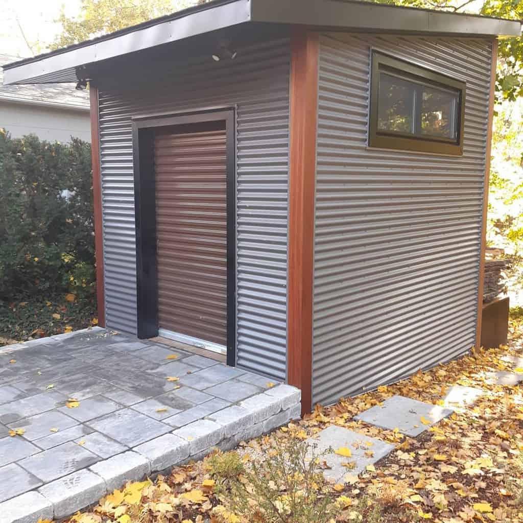 roll up shed door ideas hahnbuilders