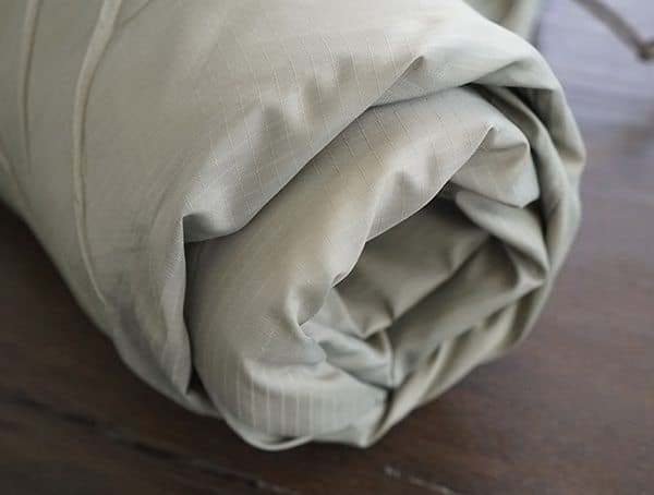 Rolled Up Kelty Tactical 30 Degree Field Sleeping Bag With 1lbs 2oz Full Weight