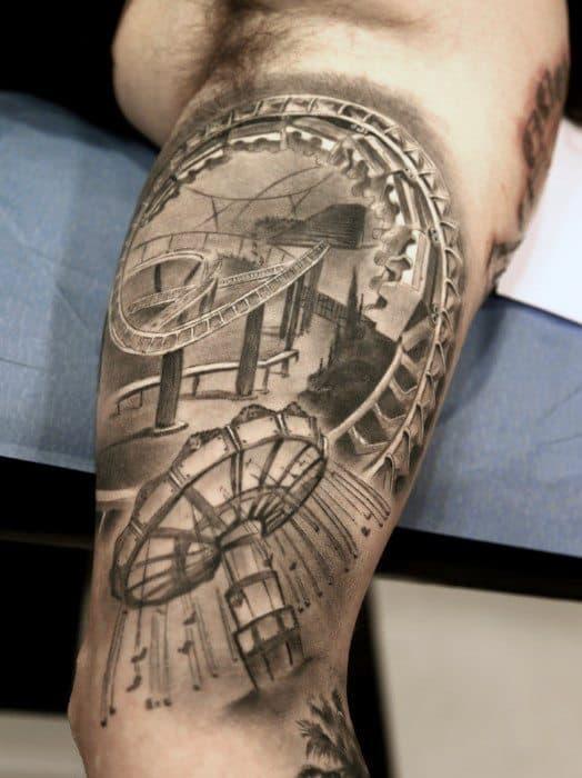 Roller Coaster Guys Tattoo Ideas