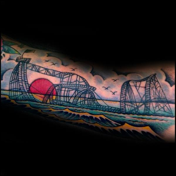Roller Coaster Tattoo Designs For Guys