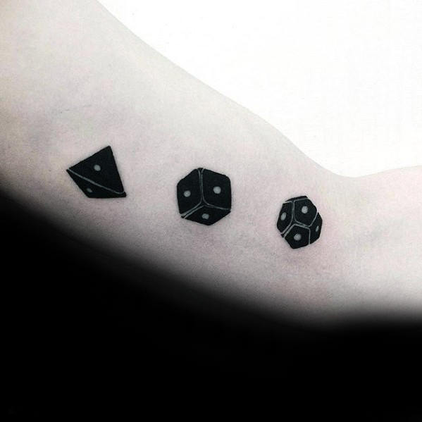 Rolling Dice Awesome Guys Inner Arm Tattoos