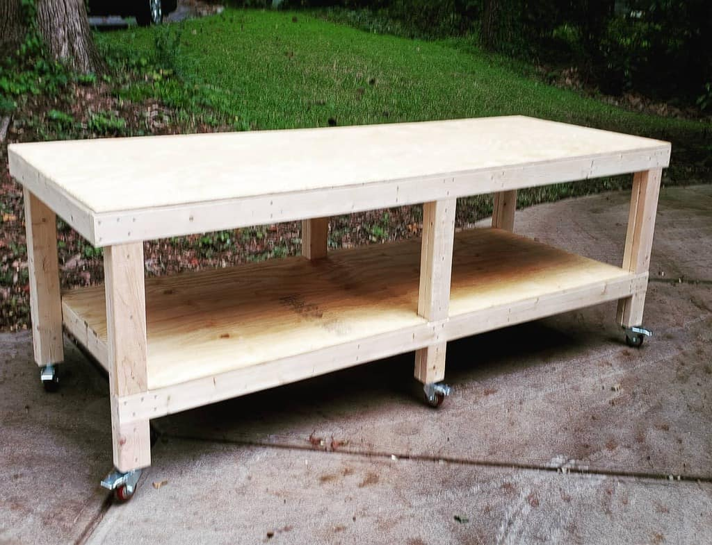 rolling work bench ideas benches_by_brian