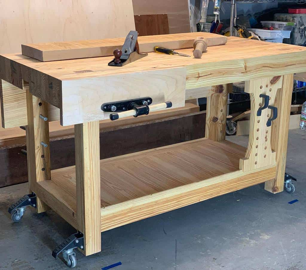 rolling work bench ideas dimensions_woodworks