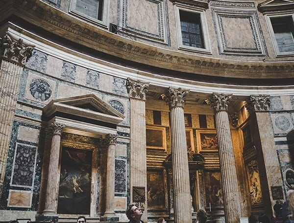 Roman Architecture Pantheon Interior