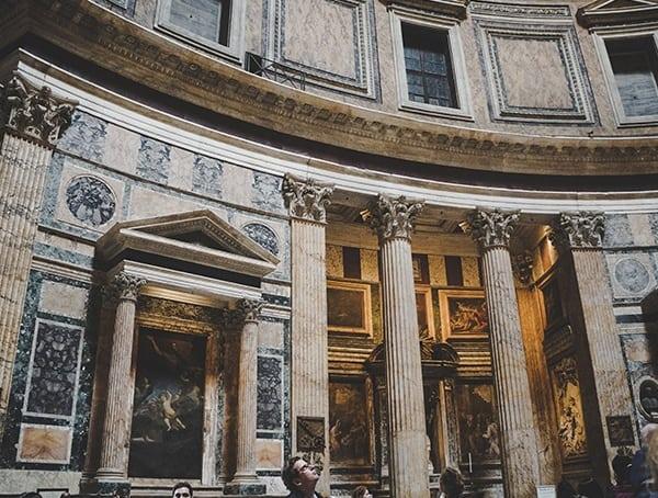 Roman Architecture Pantheon Interior