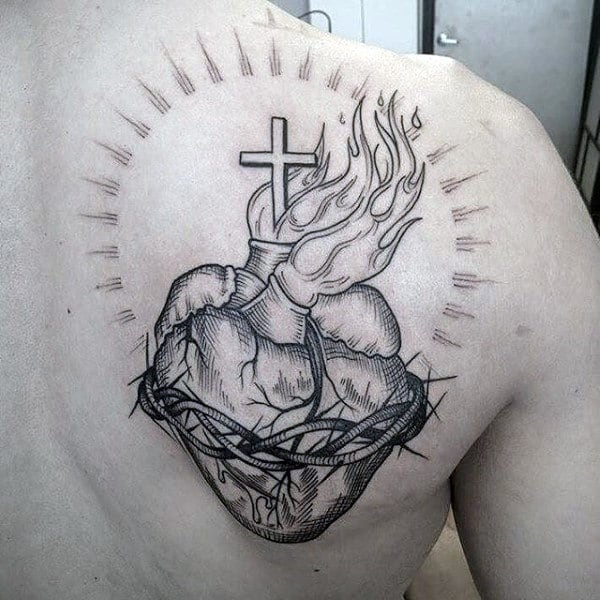 This is a graphic of Monster Sacred Heart Drawing