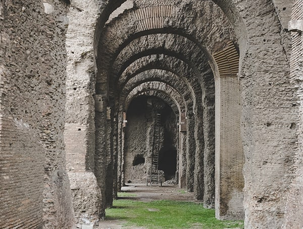 Roman Forum Arched Walkway