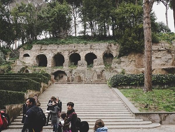 Roman Forum Front Steps