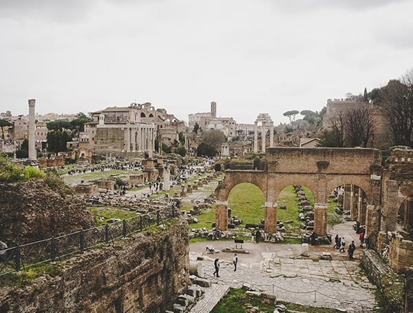 Roman Forum Overview From Above