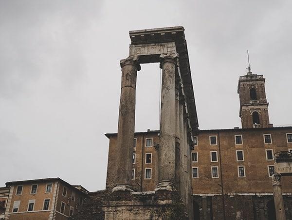 Roman Forum Stone Columns