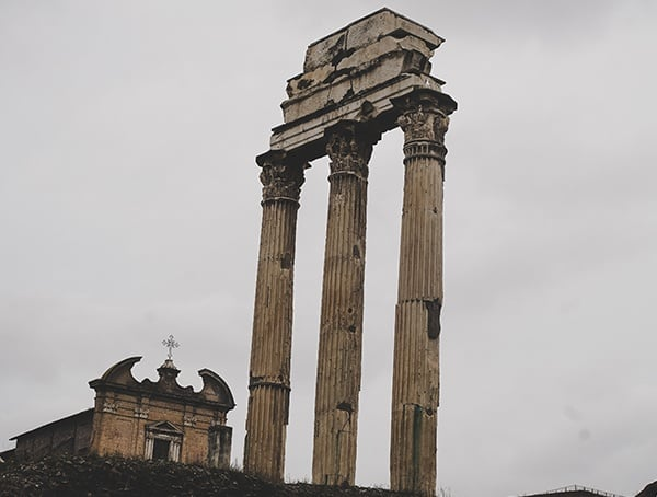 Roman Forum Temple Of Castor And Pollux
