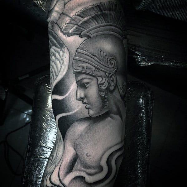 Roman Inner Arm Male Tattoo Design Ideas