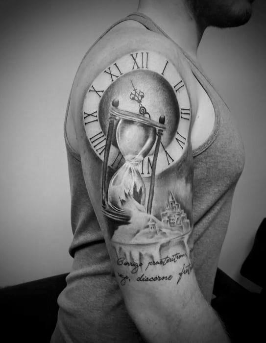 30 broken hourglass tattoo designs for men time ink ideas. Black Bedroom Furniture Sets. Home Design Ideas