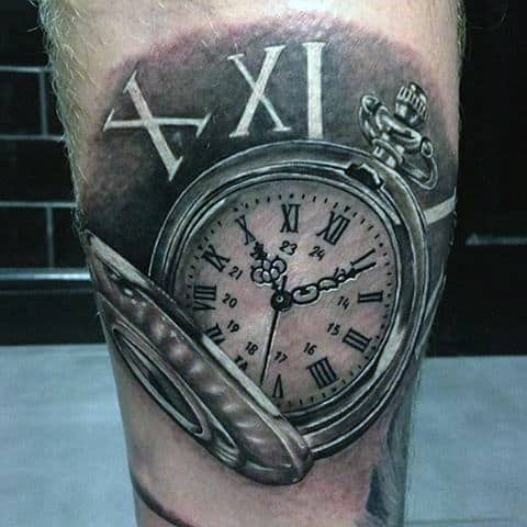 Realistic pocket watch tattoo  100 Pocket Watch Tattoo Designs For Men - Cool Timepieces