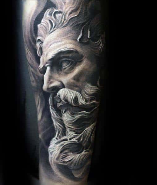 Roman Statue Guys Tattoo Designs