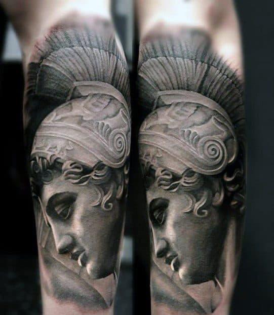 60 Roman Statue Tattoo Designs For Men - Stone Ink Ideas