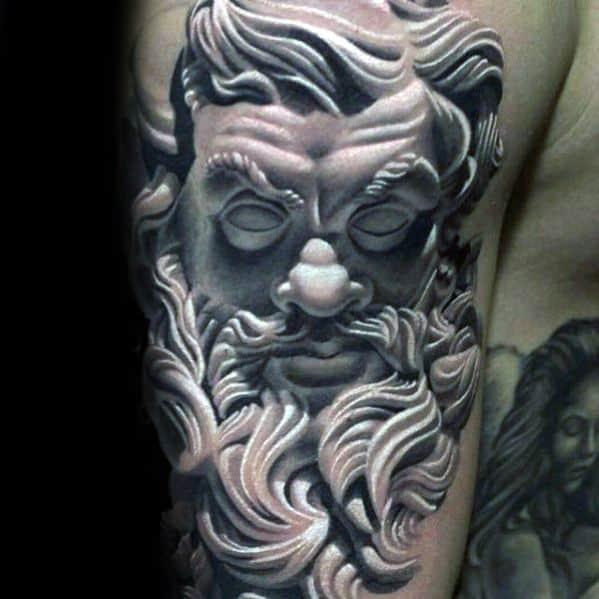 Roman Statue Male Tattoo Designs