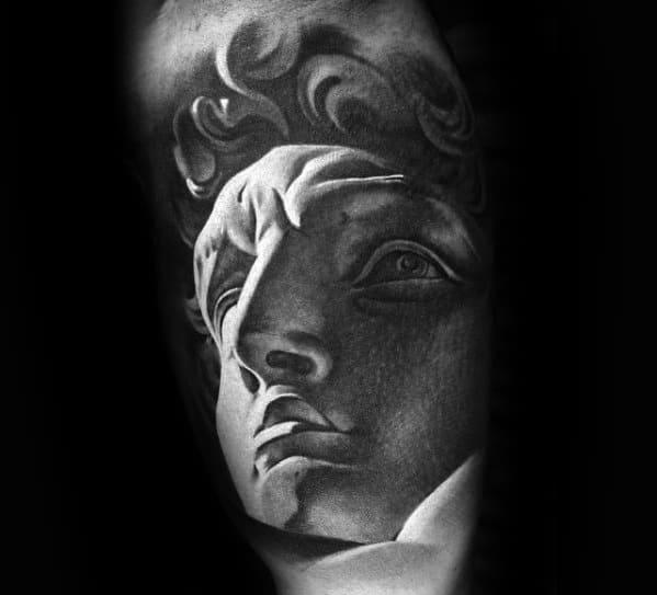 Roman Statue Male Tattoos