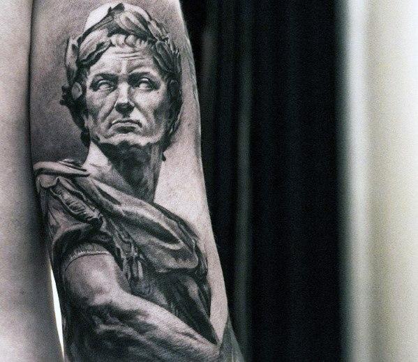 Roman Statue Mens Tattoo Ideas