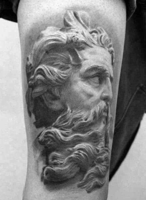 Roman Statue Tattoo Design Ideas For Males