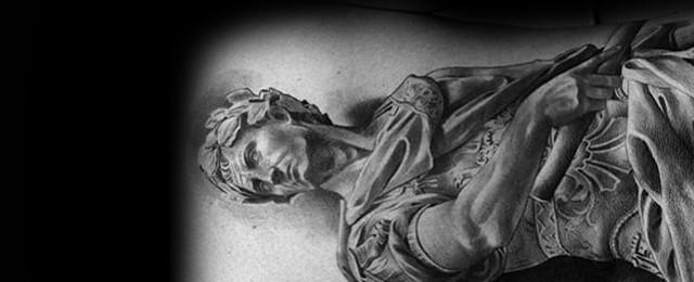 Roman Statue Tattoo Designs For Men