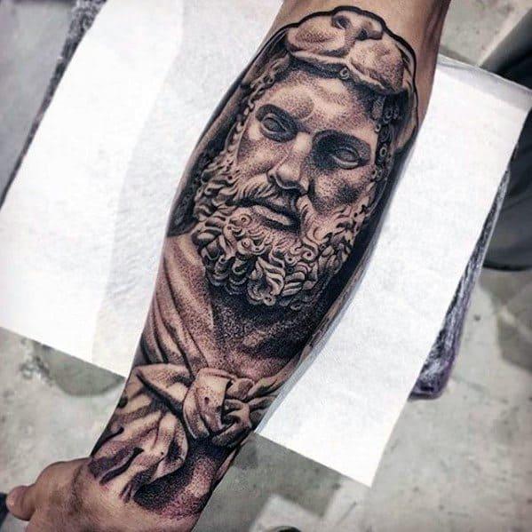 Roman Statue Tattoo Ideas For Males