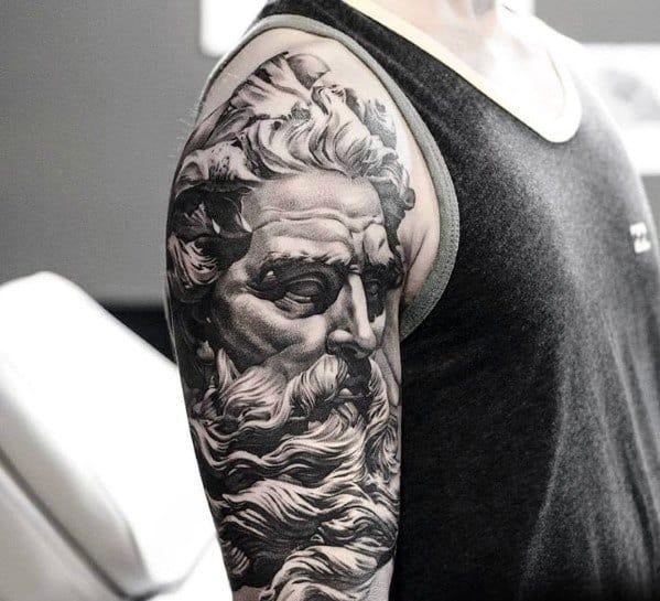 Roman Statue Tattoo Ideas On Guys