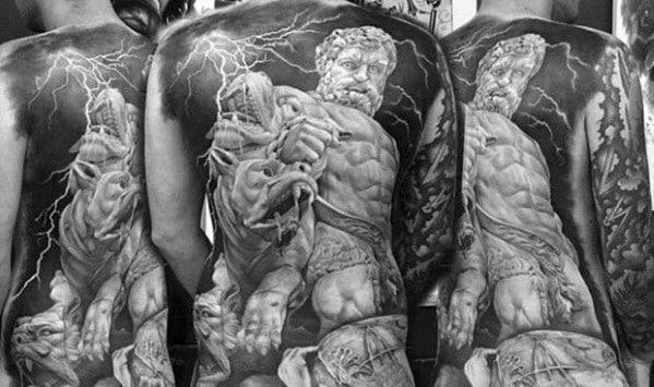 Roman Statue Tattoos For Gentlemen