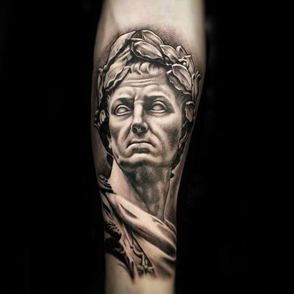 Roman Statue Tattoos Men