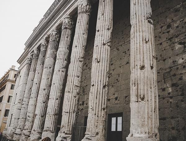 Roman Temple Pantheon Exterior Column Beams