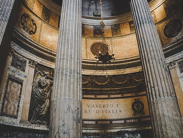 Roman Temple Pantheon Inside Look