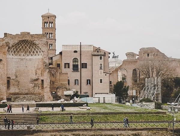 Rome Italy Outside Colosseum