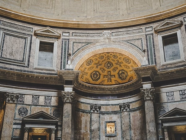 Rome Italy Pantheon Interior